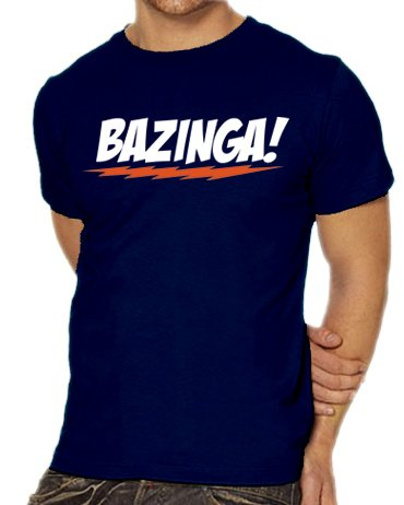 Touchlines Herren T-Shirt The Big Bang Theory - Bazinga Logo, navy, XXXL, B1797-Navy-XXXL