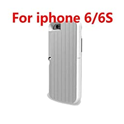 JACKLY 2016 New Stikbox 3 in 1 Aluminum Selfie Stick Case for Iphone 6 6s Plus Phone Back Cover (White iphone6/6s)