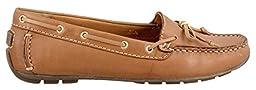 Clarks Women\'s Dunbar Groove Flat, Tan Leather, 8 M US