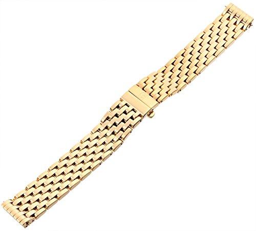 MICHELE MS16DM246710 16mm Stainless Steel Gold Watch Bracelet