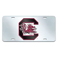 Buy FANMATS NCAA University of South Carolina Gamecocks Plastic License Plate (Inlaid) by Fanmats