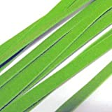 10 Meters of 5mm Faux Suede Flat Cord - Lime Green- C0502
