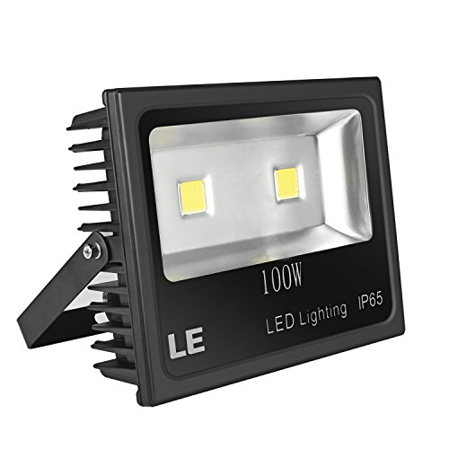 LE 100W Super Bright Outdoor LED Flood Lights, 250W HPS Bulb Equivalent, Waterproof IP65, 10150lm, Daylight White, 6000K, Security Lights, Floodlight, 5 Years Warrenty (100w Led Flood Light compare prices)