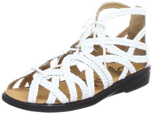 Ganter Sonnica HS, Weite E Roman sandals Womens White Weià (weiss/weiss 0202) Size: 6.5 (40 EU)