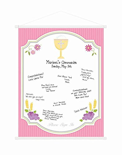 sign-in scroll communion pink