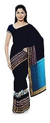 Priyam Sarees Women's Georgette Saree (Blue)