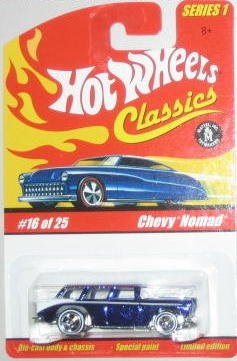 Hot Wheels Classic Series 1: Chevy Nomad #16 of 25 1:64 Scale Collectible Die Cast Car with a Special Spectraflame Paint - 1
