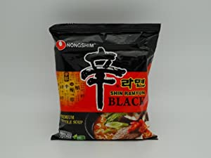 Nongshim Shin Ramyum Premium Black Noodle Soup - 4.58 oz (Pack of 2)