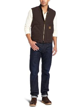 Carhartt Men's Big & Tall Sandstone Vest, Carhartt Brown, XXX-Large