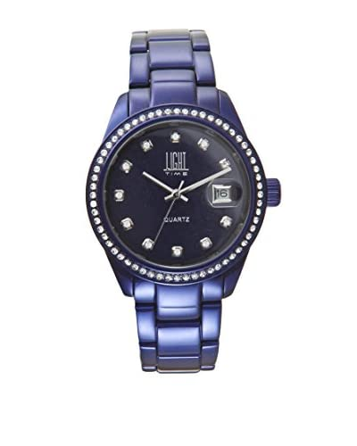 Light Time Reloj Alliminium Lady Strass Azul