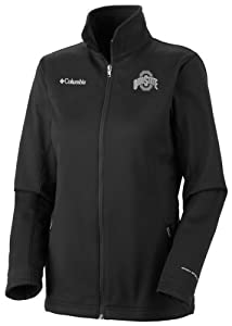 Ohio State Buckeyes Ladies Black Columbia Kruser Ridge Softshell Jacket by Columbia