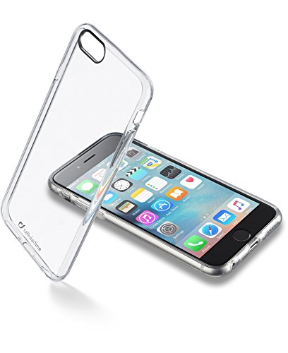 Cellular Line Clear Duo Custodia Rigida con Cornice in Gomma per iPhone 6, Nero