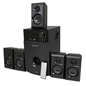 Theater Solutions 5.1 Multimedia Powered Home Theater Surround Sound Speaker System