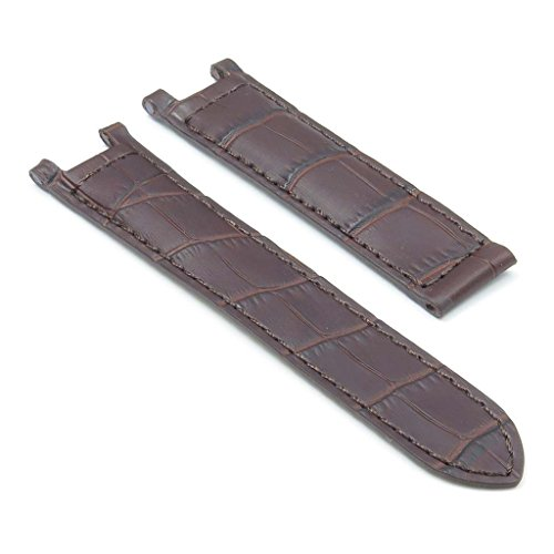 Dassari London Brown Croc Leather Strap For Cartier Pasha Watch In Size 20/18 20Mm