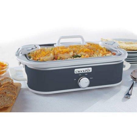 Crock-Pot Casserole Crock 3.5-Quart Slow Cooker (Charcoal) (Vintage Slow Cooker compare prices)
