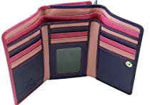 Visconti RB43 Multi Colored Berry/Purple/Dusty Trifold Leather Ladies/Girls Wallet & Purse