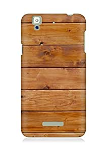 Amez designer printed 3d premium high quality back case cover for YU Yureka (Wood texture pattern)