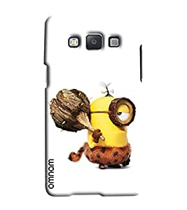 Omnam Minion In Early Age Printed Designer Back Cover Case For Samsung Galaxy E5