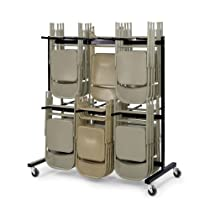 Hot Sale Safco Two-Tier Chair Cart (4199BL)