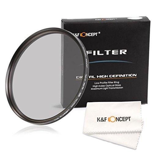 K&F Concept 77Mm Super Slim Multi Coated Cpl Circular Polarizing Glass Filter For Canon 6D 5D Mark Ii 5D Mark Iii For Nikon D610 D700 D800 Dslr Cameraslens+ Microfiber Cleaning Cloth
