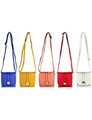 CHEVONNE Multicolour Sling Bag Set Of 5 By JDK NOVELTY (BGS3880)
