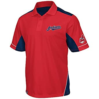 Cleveland Indians Majestic MLB Victory Anthem Performance Polo Shirt by Majestic