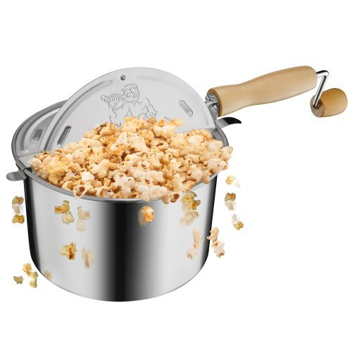 Lowest Prices! Great Northern Popcorn Original Stainless Steel Stove Top 6-1/2-Quart Popcorn Popper