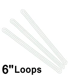 6 Inch Premium Clear Plastic Luggage Loop Straps / Worm Loops for Luggage Tags, by Specialist ID (10 Pack)