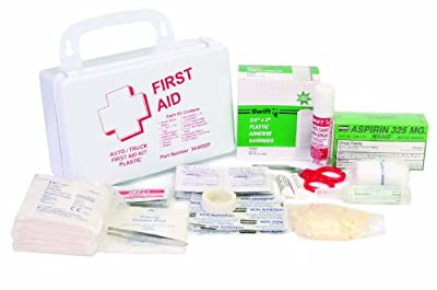 North 340002F Auto and Truck First Aid Kit, Plastic by North