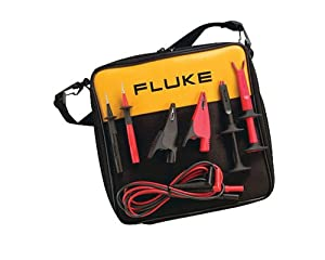 Fluke TLK-220 SureGrip Industrial Test Lead Kit with Zippered Vinyl Carry Case