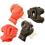 Adult-sized Boxing Gloves And Head Gear For Training With A Sparring Partner 16 Oz Size Set Of Two Buffed-pvc...