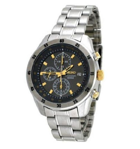 Seiko Sport Chronograph Gunmetal Dial Men's Watch SNDC51