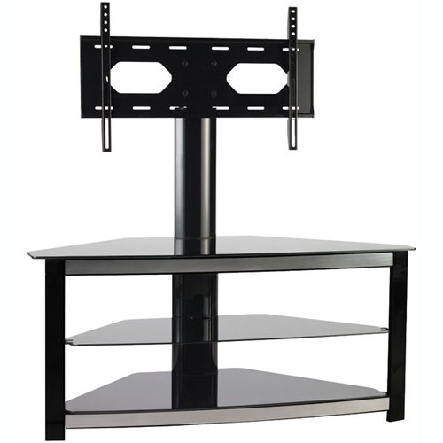 Omnimount Elements 503FP 3-Shelf Flat-Panel Floor Stand for Most 42-Inch to 55-Inch Flat Panels (Black)