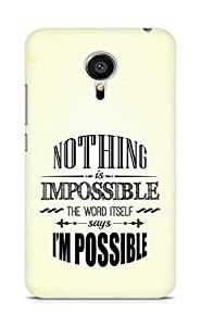 AMEZ Nothing is Impossible Back Cover For Meizu MX5