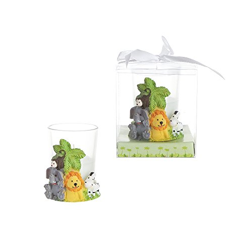 Lunaura Party Keepsake - Set of 12 Safari Animals Candle Set Favors (Safari Baby Shower Favors compare prices)