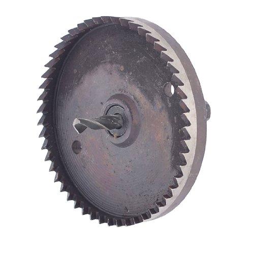 Sourcingmap, a13110800ux1047, Gambo Triangolo 6 millimetri Twist Drill 80 millimetri di taglio Dia HSS sega a tazza, ferro