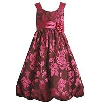 Bonnie Jean Girls 7-16 Burnout Bubble Dress, Fuschia, 8