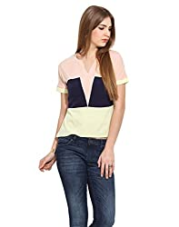 Albely Women's Color Block Regular Fit Top