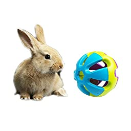 2-Pack,Colorful Bell Sound Ball Fun Playing Toy,Dog Cat Rabbit Toy,2.93\