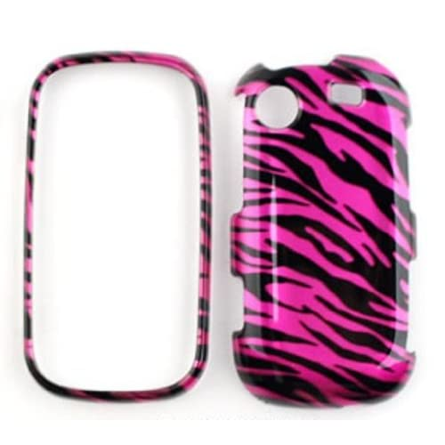 Samsung Messager Touch R630 Transparent Design,Hot Pink Zebra Hard Case/Cover/Faceplate/Snap On/Housing/Protector