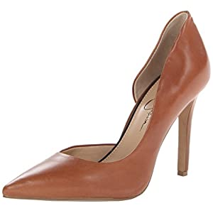 Jessica Simpson Women's JS-Claudette Dress Pump,Burnt Umber,7.5 M US