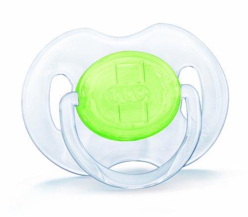 Philips Avent SCF170/21 - 2 succhietti anatomici trasparenti, privi di BPA, per neonati da 3 a 6 mesi