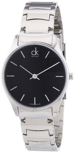 Calvin Klein ck classic K4D22141 - Reloj analógico de cuarzo para mujer, correa de acero inoxidable color plateado