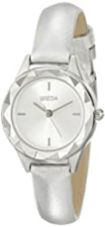Breda Women's 2435B Analog Display Quartz Silver Watch