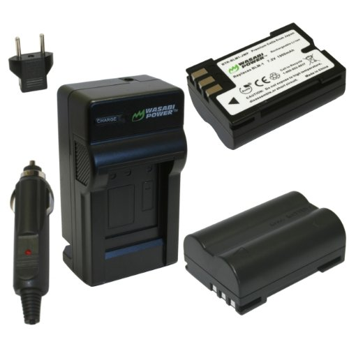 Wasabi Power Battery and Charger Kit for Olympus BLM-1, BLM-01, PS-BLM1, C-5060, C-7070, C-8080, E-1, E-3, E-30, E-520, EVOLT E-300, E-330, E-500, E-510