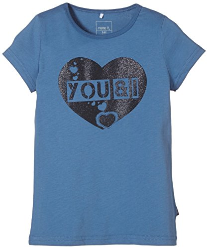 NAME IT - Vaiken Kids Ss Top 4 Camp Sp15, T-shirt per bambine e ragazze, blu (federal blue), 110 (Taglia produttore: 110)