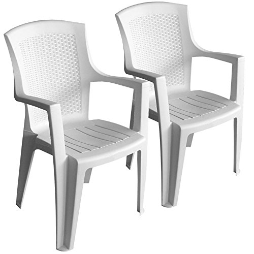 produktabbildung von 2 st ck stapelstuhl rattan look gartenstuhl gartensessel kunststoff. Black Bedroom Furniture Sets. Home Design Ideas