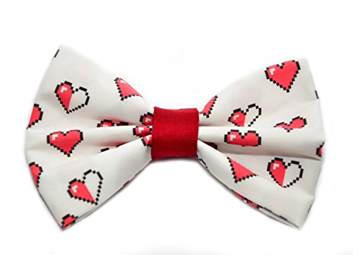 Zelda Hearts Bow Tie with Adjustable Strap Adult Kid and Toddler Sizes Available (Quirky Ties compare prices)