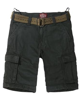 Match Mens Twill Cargo Shorts Quick-dry Summer Shorts S3612(Label size 2XL/36 (US 34),3648 Dark gray)