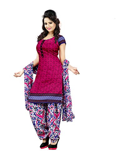 DnVeens Pink Crepe Chudidar Salwar Suit Dress Materials ...